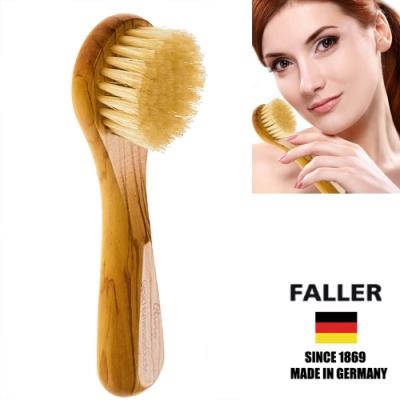 FALLER芙樂德國製山羊毛微循環溫和臉部頸部按摩刷(一入)