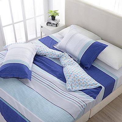 夢工場   純淨世界精梳棉床包兩用被組-加大