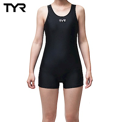 美國TYR 修身款連身四角泳裝 Solid RacerBack Boyleg