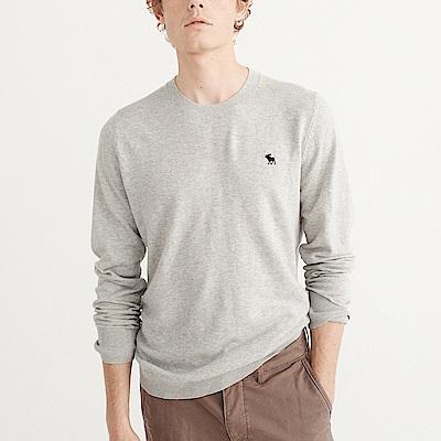 麋鹿 AF A&F 經典麋鹿刺繡標誌毛衣-灰色