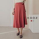 東京著衣-KODZ 時髦美人綁帶不對稱長裙-S.M.L(共二色)