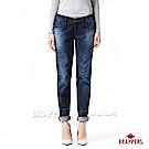 BRAPPERS 女款 新美腳ROYAL系列-女用中低腰特殊水痕直筒褲-藍