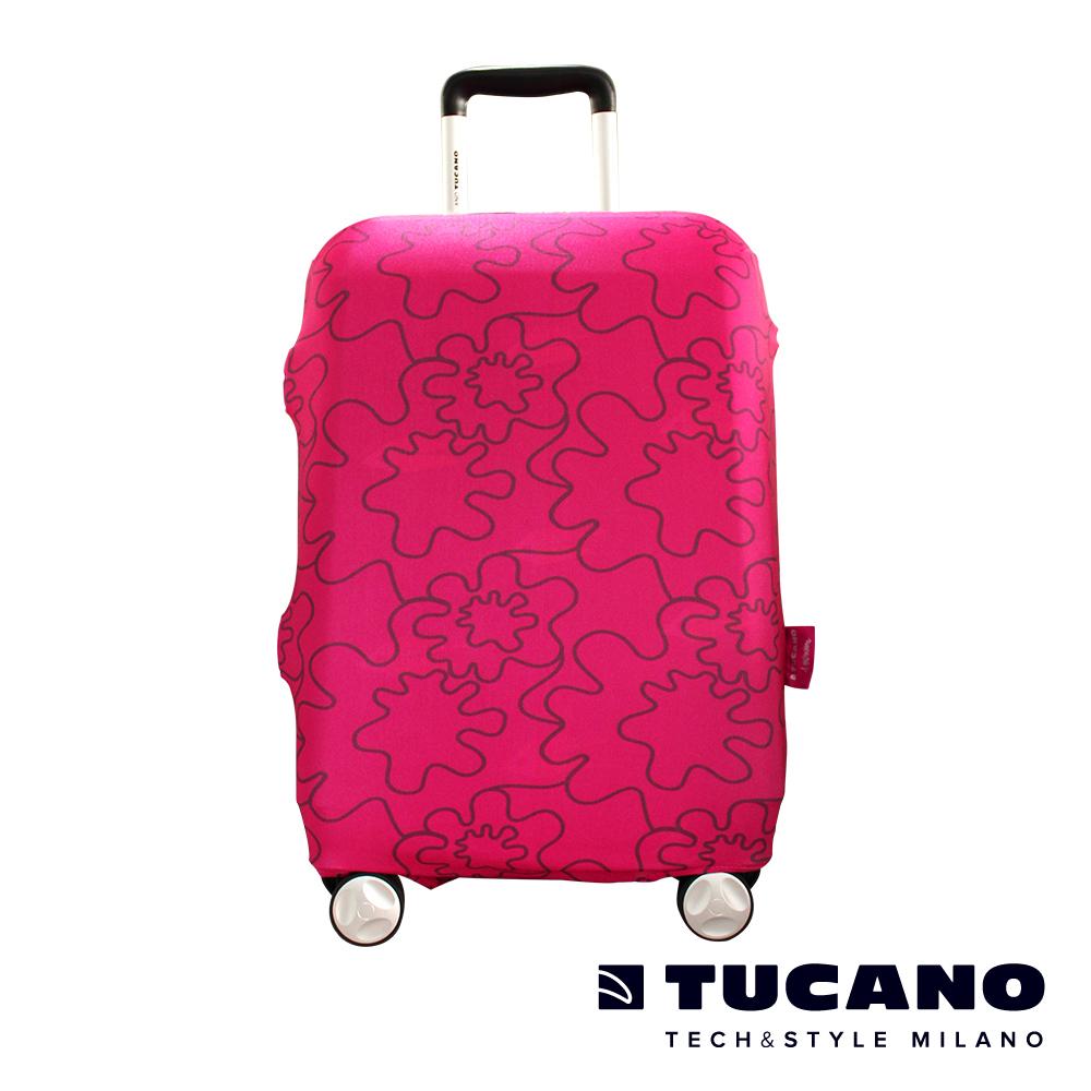TUCANO X MENDINI 高彈性防塵行李箱保護套 M-粉