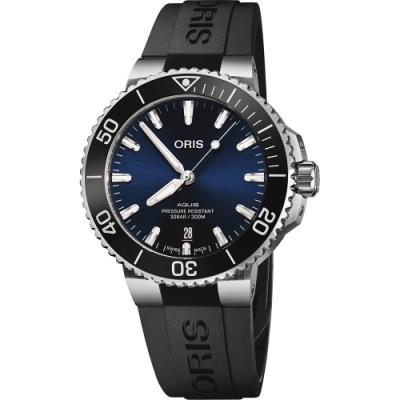 Oris豪利時 Aquis 時間之海300米潛水機械錶-41.5mm 0173377664135-0742264FC