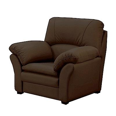 綠活居 艾利森時尚半牛皮革單人座沙發-104x88x99cm-免組