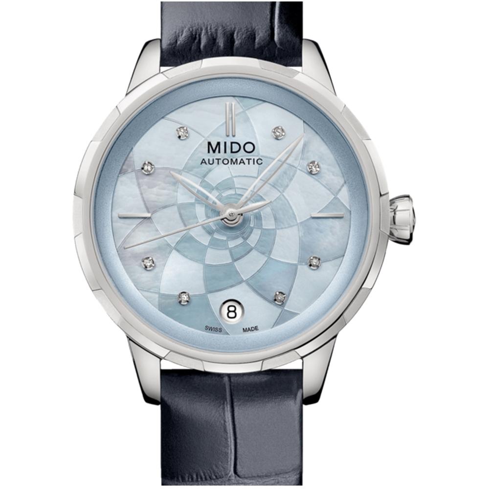 MIDO美度花雨系列雅緻蓮花女錶(M0432071613100)-藍