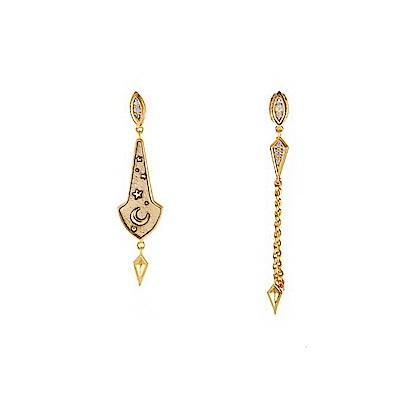 Wanderlust+Co 澳洲時尚品牌 THEA閃爍星空耳環 金色