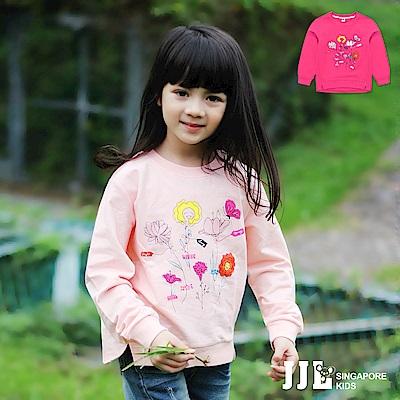 JJLKIDS 春紛小花園棉質圓領長袖上衣(2色)