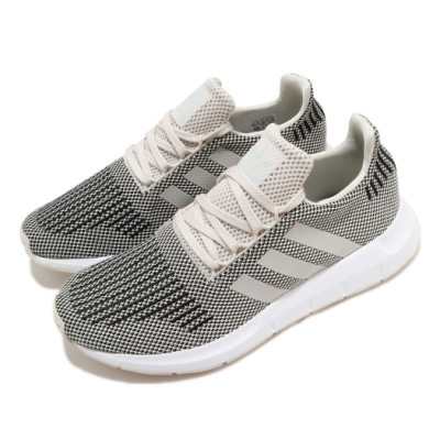 adidas 休閒鞋 Swift Run 襪套 男女鞋 海外限定 愛迪達 三葉草 情侶鞋穿搭 灰 黑 B37736