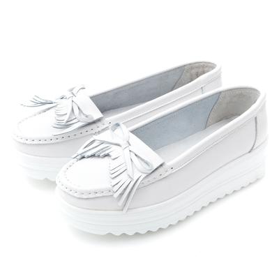 ﹝時時樂限定﹞G.Ms. 牛皮莫卡辛厚底小白鞋-多款選