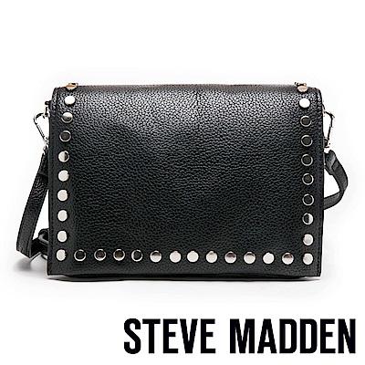 STEVE MADDEN-BPOSH 個性鉚釘經典劍橋包-黑色
