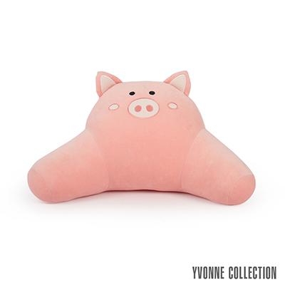 Yvonne Collection 豬豬背部靠墊-粉橘紅