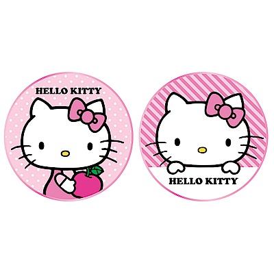 台灣製造 正版三麗鷗授權 Hello kitty 金屬邊框玻璃面無線充電盤