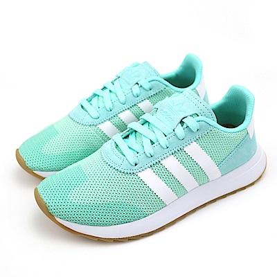 ADIDAS FLB_RUNNER W 女慢跑鞋 DB2122 淺綠