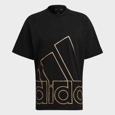 ADIDAS 上衣 運動 短袖上衣 健身 寬鬆 男款 黑 GU4291 U BIG LOGO T