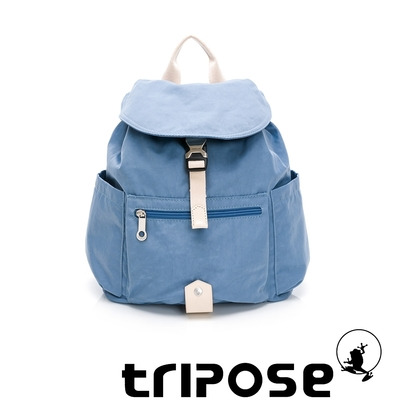 tripose MEMENTO微皺尼龍輕量後背包-小(蔚水藍)