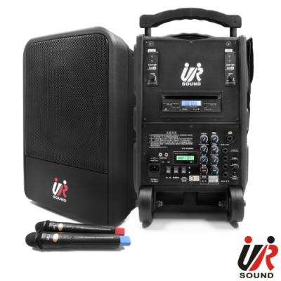 UR SOUND 75W雙頻藍芽MP3移動式無線擴音機(鋰電)PA9223CDNBL