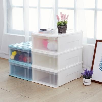 H&R安室家 可堆疊式抽屜收納整理箱3入-BNF59