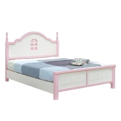 文創集 恩圖曼  歐風雙色5尺雙人實木床台(不含床墊)-152x205x119cm免組
