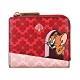 Kate Spade Tom&Jerry黑桃LOGO PVC 6卡扣式短夾(紅) product thumbnail 1