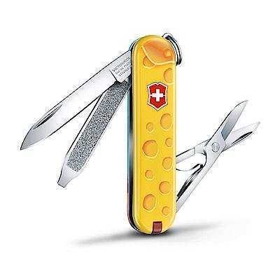 VICTORINOX瑞士維氏 限量迷你7用主題瑞士刀/鑰匙圈/隨身工具-阿爾卑斯山乳酪