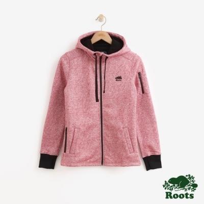 女裝Roots-複合材質連帽外套-紅