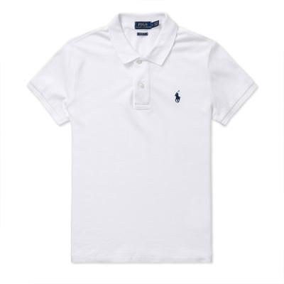 Polo Ralph Lauren 年度熱銷刺繡小馬短袖POLO衫(SKINNY FIT)(女)-白色