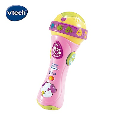 【Vtech】歡唱學習麥克風-粉