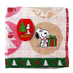 SNOOPY史努比 聖誕派對 小方巾(A款-米白色)