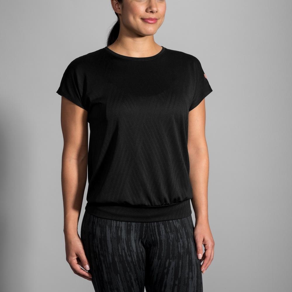 BROOKS 女 ARRAY 短袖 黑 (221340001)