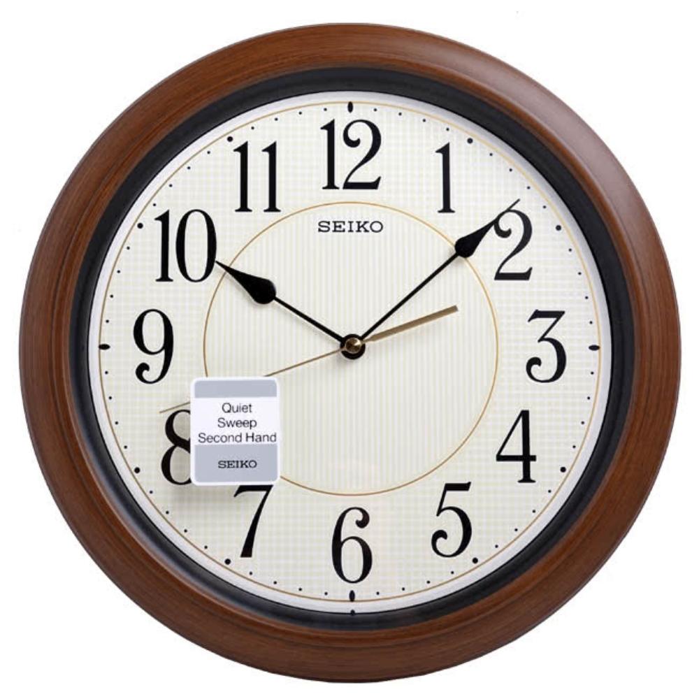 SEIKO精工 滑動式秒針 靜音 夜光 時鐘 掛鐘(QXA616B)