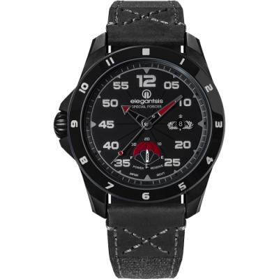 elegantsis JX65AS-SF 陸軍特戰 傘兵 限量機械腕錶-暗夜黑