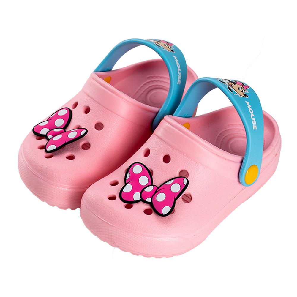 迪士尼童鞋 米妮 蝴蝶結輕量防水涼鞋-粉