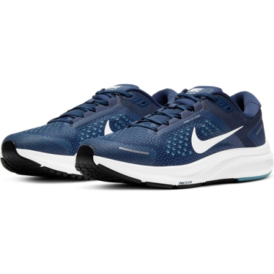 NIKE 慢跑鞋 運動鞋 緩震 訓練 男鞋 藍白 CZ6720-402 AIR ZOOM STRUCTURE 23
