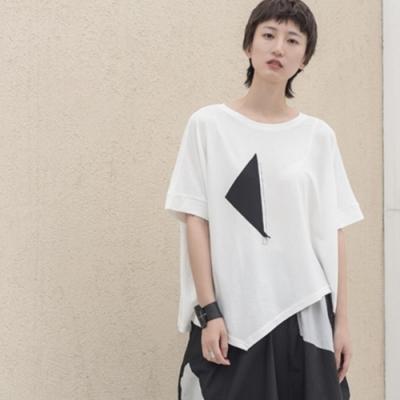 設計所在Style-港風街頭簡約中性寬鬆麻棉短袖T恤