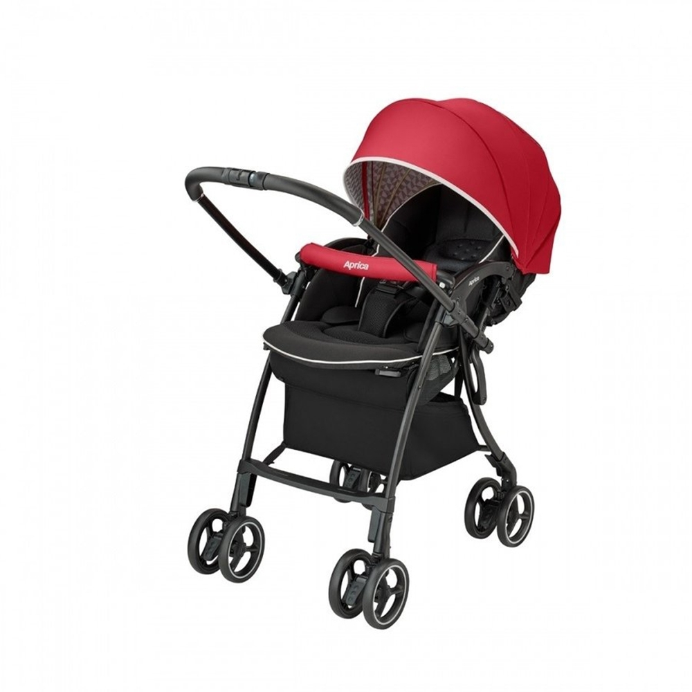 【Aprica】 LUXUNA Cushion 四輪自動定位嬰兒車 (玫瑰鑽石)