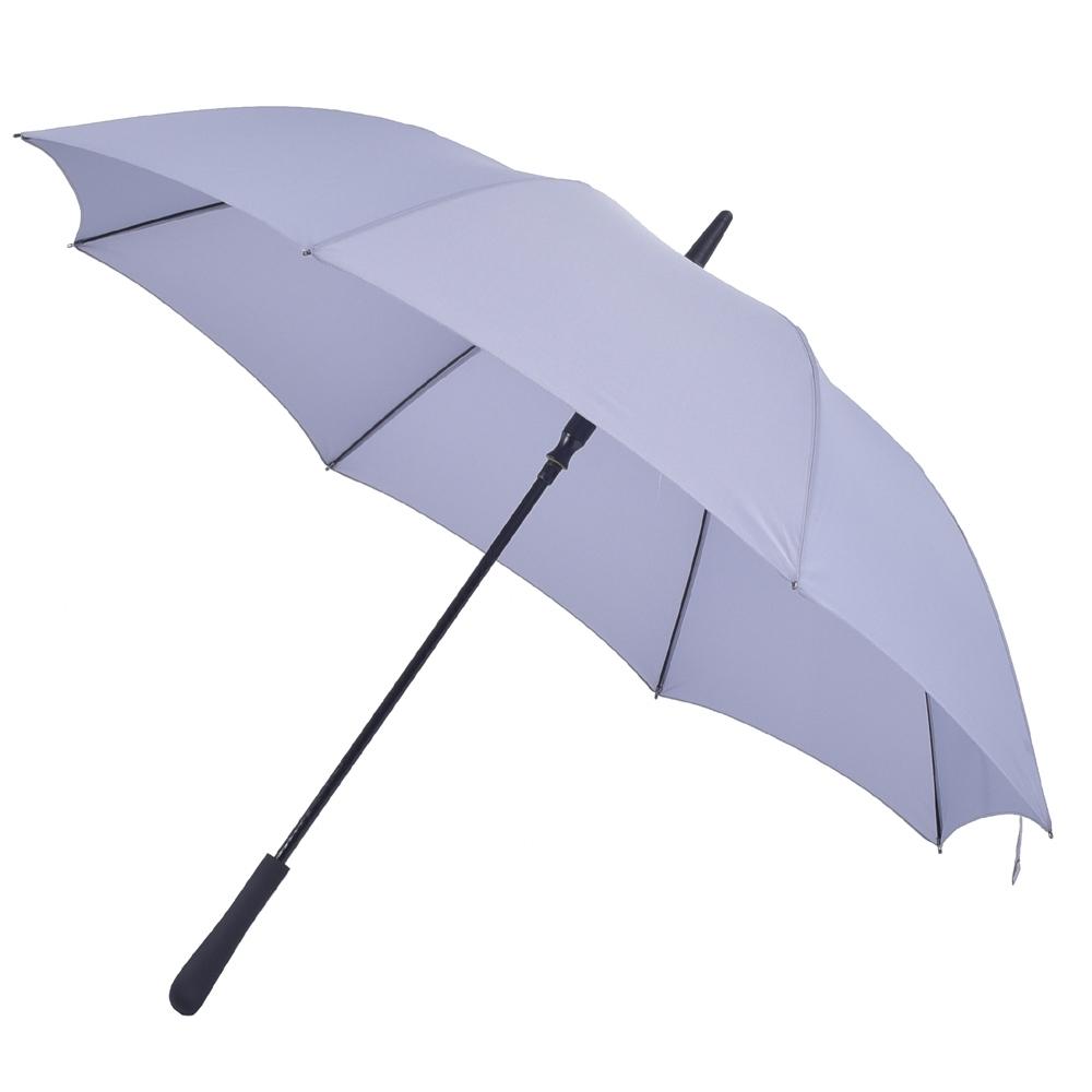 2mm 日系無印風 彎手柄高爾夫防風直傘 (淺灰)