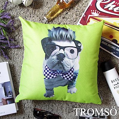 TROMSO 品味英倫棉麻抱枕-龐克法鬥