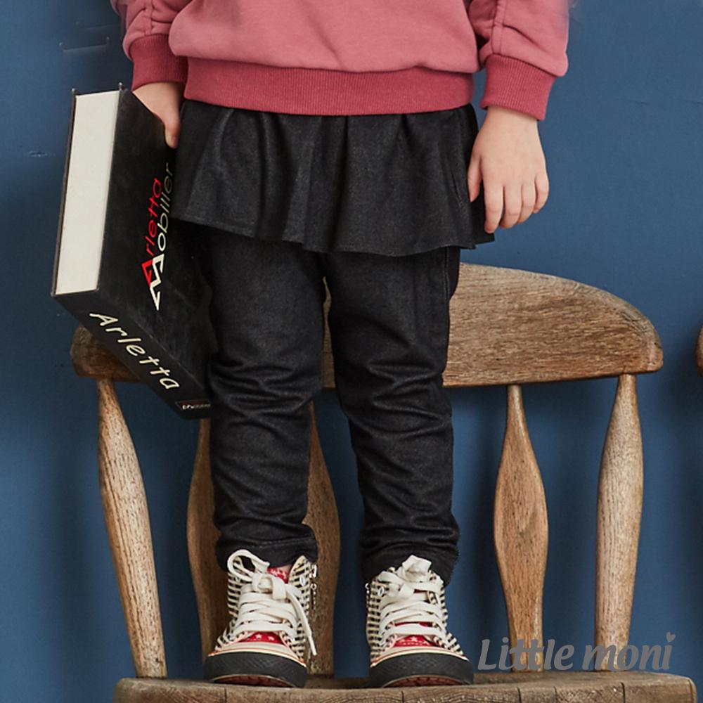 Little moni 針織仿牛仔褲裙(共2色)