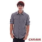 CARAVA《男款Supplex原紗排汗襯衫》(鐵灰)