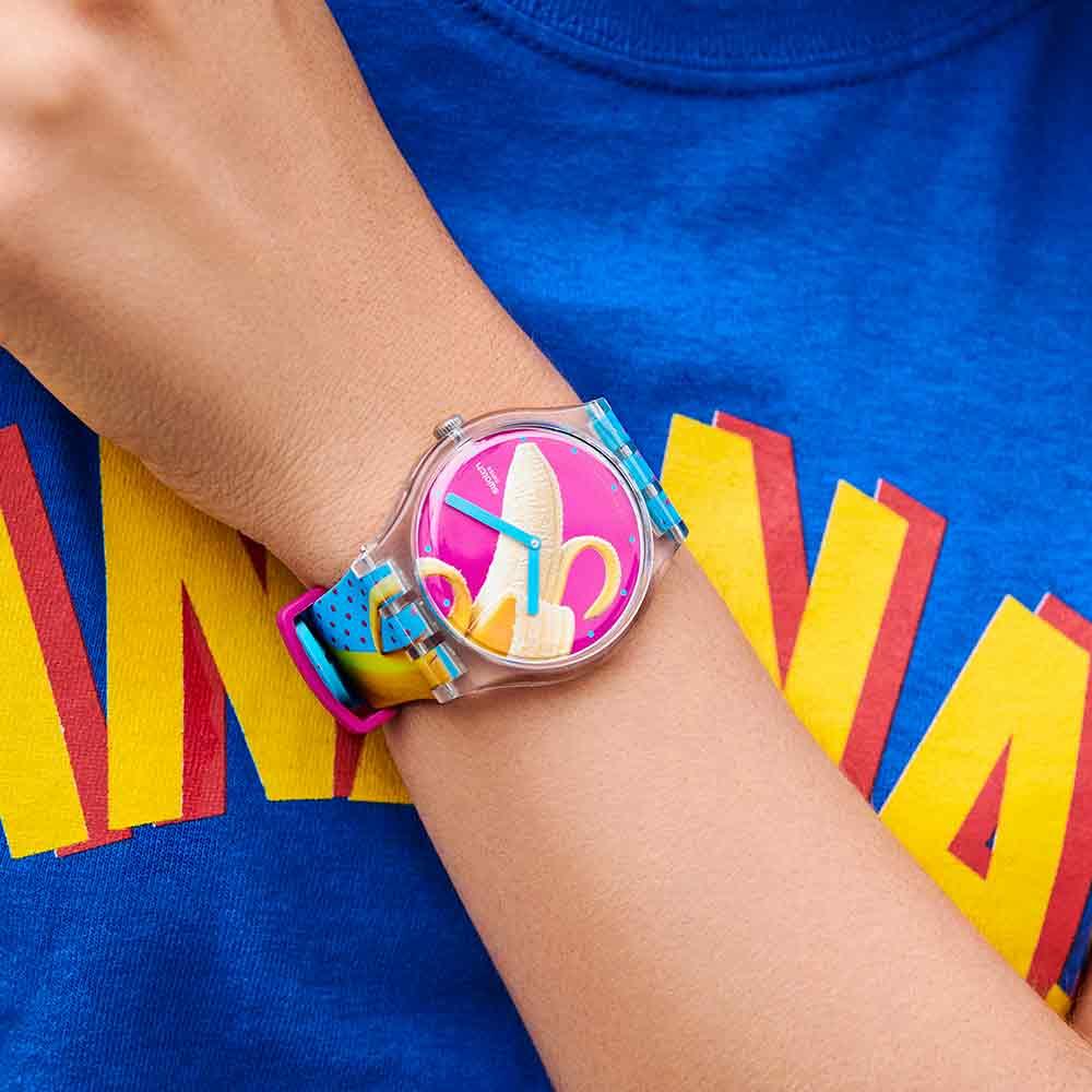 Swatch Energy Boost 系列 BANANA SLIP 香蕉共和國手錶