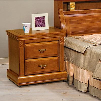 AS-愛麗實木樟木色床頭櫃-65x45x61.5cm