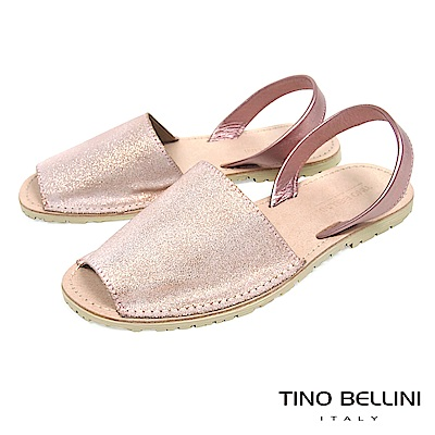 Tino Bellini 西班牙進口睛漾亮彩馬卡龍魚口涼鞋 _ 粉