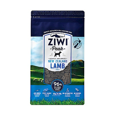 ZiwiPeak巔峰96% 鮮肉狗糧-羊肉 4kg