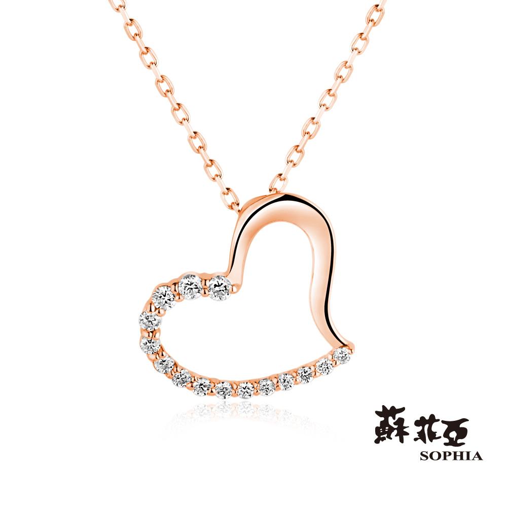 蘇菲亞SOPHIA 鑽石項鍊-戴瑞莎0.15克拉玫瑰金鑽鍊