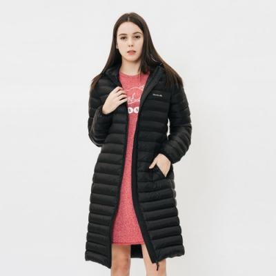 女裝ROOTS - 經典收納式長板羽絨外套-黑