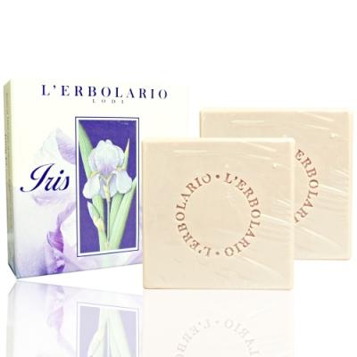 L ERBOLARIO 蕾莉歐 鳶尾花植物香氛皂100gX2