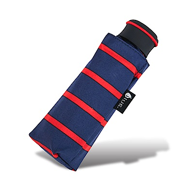 HUS 熱力紅條紋抗UV迷你口袋傘