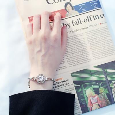 梨花HaNA 氣質晶鑽圓飾閨蜜鑽石手鍊