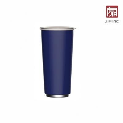 JIA Inc. 品家家品 虹彩鋼 雙層琺瑯塗層隨行杯470ml-藍